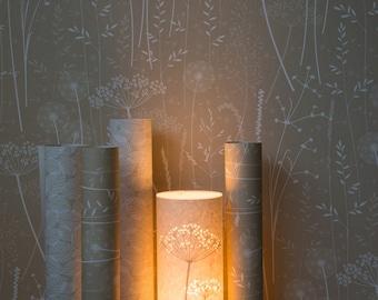 SAMPLE // Beige Brown Tan Floral Tonal Botanical Dandelion Woodland Wallpaper // Paper Meadow in 'Kraft' by Hannah Nunn
