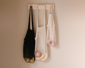 Organic Cotton Market Bag   Reusable Shopping Bag   Eco-friendly   Zero Waste   Net Bag   Grocery Tote   String Bag