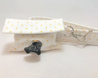 Poop Bag Holder · White Polka Dot · Dog Poop Bag Holder · Polka Dot · Dog Owner Gift · Dog Accessory · Poop Bag Dispenser