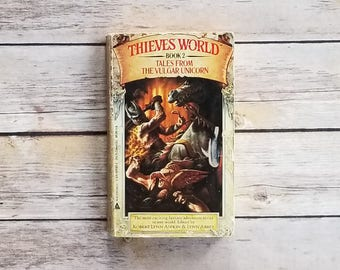Thieves World Book 2 Tales From The Vulgar Unicorn Shared World Fantasy Writers Collection Anthology Ace Fantasy Novel 80s Paperback Book