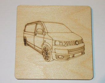 T5.1 Panel Van Coaster - Etched wood