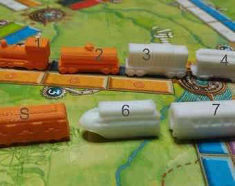 Train for board games-board game pieces (Ticket to Ride)