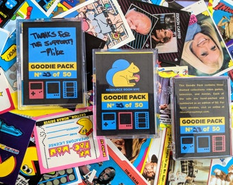RRNYC Goodie Pack - Hand Picked Ltd Ed trading card and sticker packs 80s 90s Tv Movies Video Games