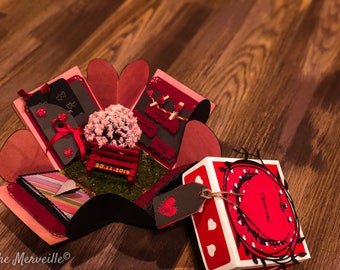 valentines day gift for him,valentine's gift,valentine's gift for him,valentine's gift for her, exploding box,exploding box valentines, box