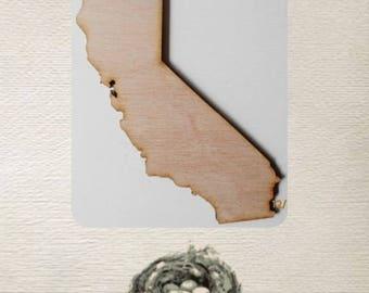 California State ( Medium) Wood Cut Out - Laser Cut