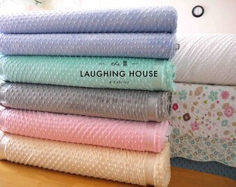 Minky (Baby Pink) - Minky Dots - Cuddle Dimple - Shannon Fabrics - 1 Yard