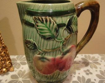 L and M Inc.Hand Painted Pitcher/Vintage Vase/Vintage Pitcher/L and M  Inc/Antiques and Collectibles/Home decor Pitchers/Home Decor Vases.