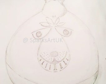 Space hopper - print of original graphite drawing