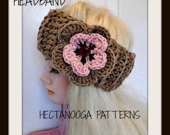 Headband CROCHET PATTERN, Headband Ear Warmer, Crochet Earwarmer Pattern, Boho Headband  headwrap, Chunky style, #1117