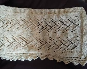 Hand Knitted Shawl/Scarf