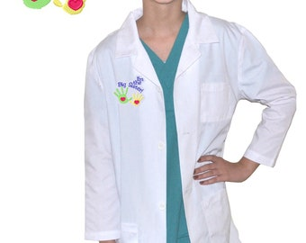 Kids Lab Coat with Big Sister Hands Embroidery Design