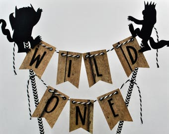 Where the Wild Things Are cake topper, Wild One cake topper, Wild Rumpus, Cake Bunting, Where the Wild Things are party supplies, Wild One