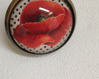 POPPY RED CABOCHON