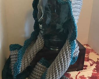 Crochet Wrap - made to order - you pick color