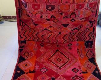 "Moroccan vintage berber rug""moroccan rug""tapis marocain""berber rug""Azilal rug 294x160 cm"
