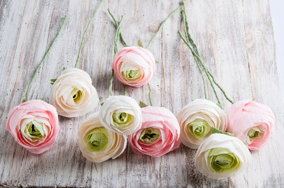 Paper ranunculus bridal flower bridal bouquet bridesmaids mightylinksfo