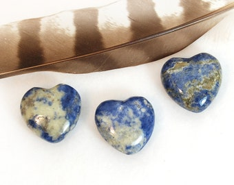 SODALITE Heart Stone | Sodalite Crystal Heart | Recovery Gift, Wedding Favor, Remembrance Gift | Chakra Energy Healing Stones | Blue Heart