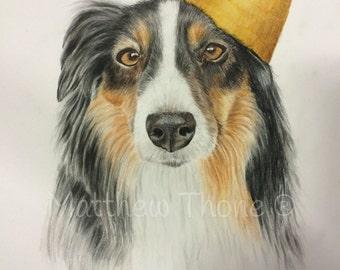 Custom Dog or Cat Portrait, Pet Portrait , Dog Portrait,