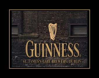 "Guinness Beer Poster, Irish Wall Decor, Dublin, Ireland, Photo Wall Art, Irish, Gift, Bar, Sign, Home Decor, Decor,  8x10"", 11x14"" Free Ship"