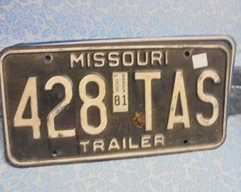Missouri vintage license plate