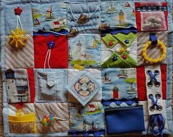Sail Away with this Fidget Blanket - Fidget Quilt for Dementia, Alzheimer, Stroke or Nursing Home patients