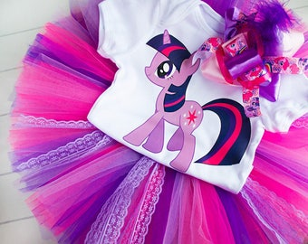 My little pony tutu Twilight Sparkle tutu First 1st 2st Birthday outfit Birthday Tutu Set baby tutu pony Birthday Tutu Set Europe