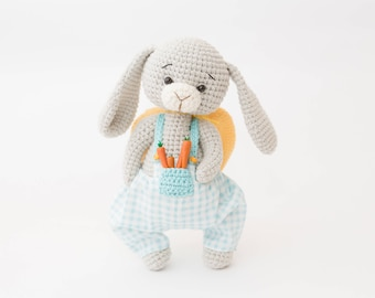 Easter bunny toy Easter decor toy Soft toy Crochet bunny Birthday gift Toy for kids Nursery decor Amigurumi bunny Easter rabbit Easter gift