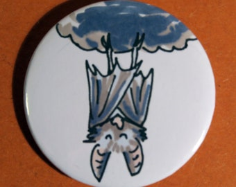 sleeping bat badge, badge, nocturnal animal, bat, sleeping, bat wings