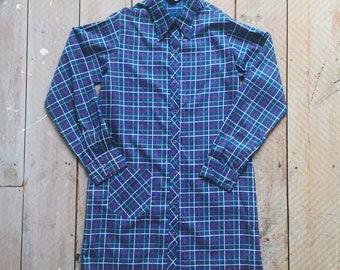70s Long Checked Shirt