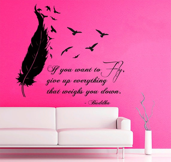 Feather And Birds Sticker