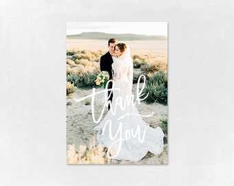 Wedding Thank you Card Template for Photographers, Wedding Photography - Photoshop Templates - Wedding Thank you Card - TK007