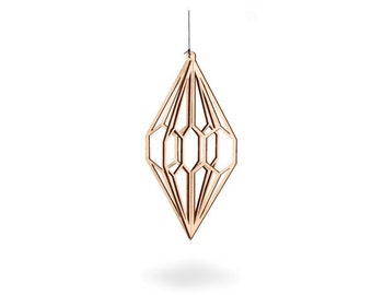 Laser cut wood Diamond - easy to mail nordic birch plywood interior decoration