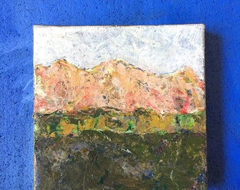 Miniature Original Acrylic Mountain Painting #2