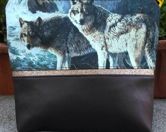 wolf cosmetic bag
