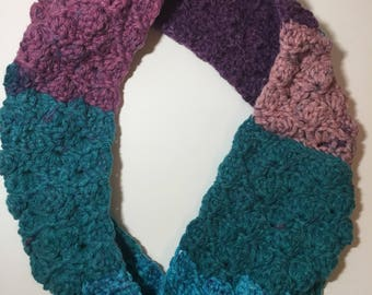 In stock, bright colored infinity scarf