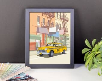 New York Taxi Framed photo paper poster