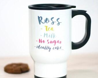 Personalised Drinks Travel Mug | Gift | Custom | Drinkware | Tea | Coffee | For Him | For Her