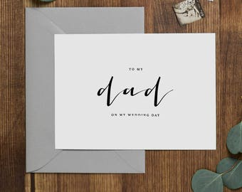 Wedding Card To My Dad On My Wedding Day, To My Father Wedding Card, Wedding Stationery, To My Dad, Thank You Wedding Card, Wedding Note, K4