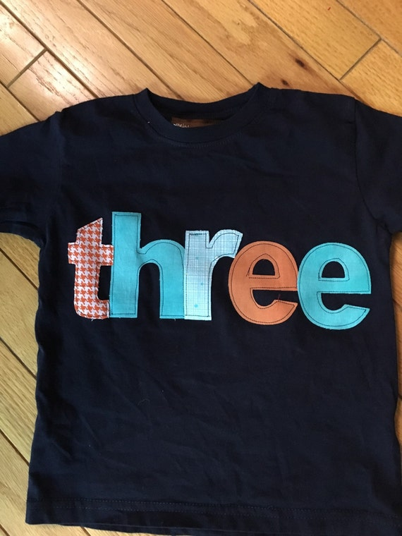 3rd birthday Boys shirt, third Birthday shirt, orange, teal and navy theme, birthday boy, party wear, birthday supplies, boy birthday shirt