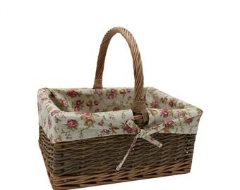 Country Rectangular Wicker Shopping Basket
