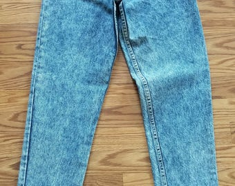 Guess Vintage 80's Acid Wash High Waisted Jeans