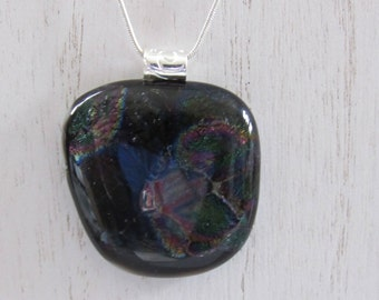 Sale; Dichroic Pendant; Dichroic Jewelry; Fused Glass Pendant; Fused Glass Jewelry/PDM
