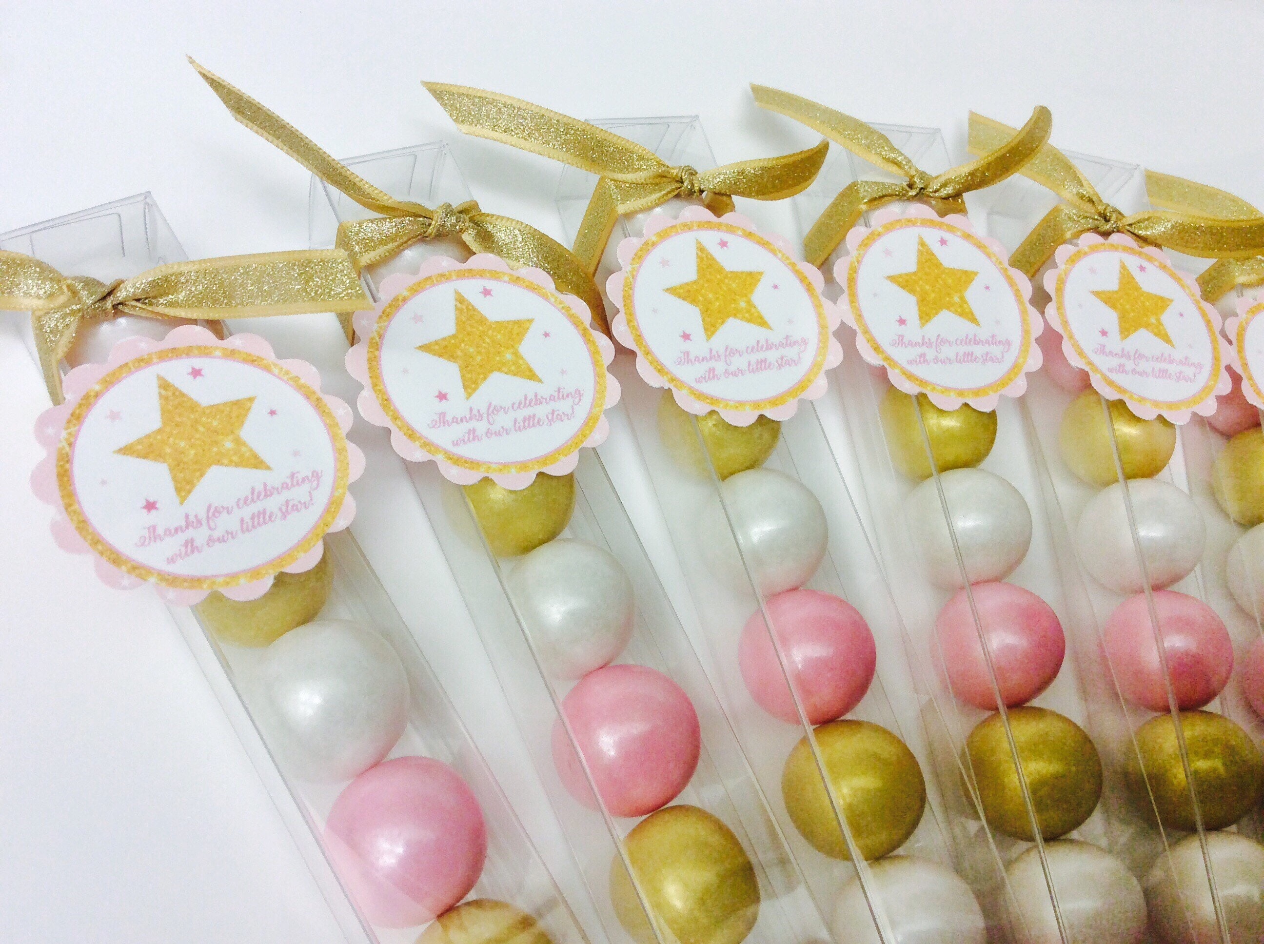 Pink and Gold Twinkle Little Star Baby Girl Shower birthday