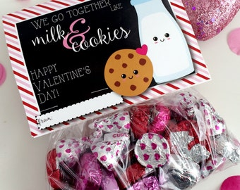 Valentine's Day Favor Bags Gift Bags Digital Download Perfect Pair Hearts