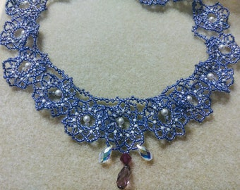 Sparkly purple lined necklace