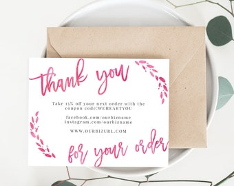 Free printable business thank you letter template helloalive bulk instant business thank you cards editable pdf printable business thank you cards templates accmission Images