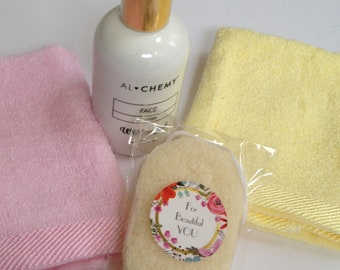 ALCHEMY PACK Cleanser,Wildcrafted Cleanser,Natural and Organic Skin Care,Bamboo Cloth,Konjac Sponge,Clean Beauty,Exfoliating Sponge,SkinCare