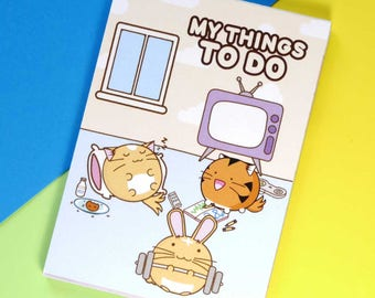 My Things To Do Memo Pad Planner Kawaii Stationery diary Cute Japanese Fuzzballs Notepad note book Idea School A7 Cuteness Stocking Stuffer