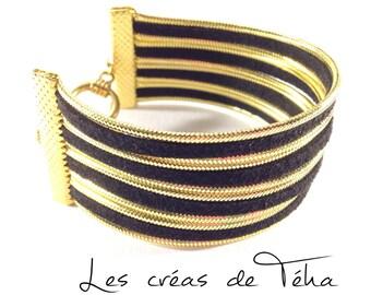 Very pretty black and gold cuff