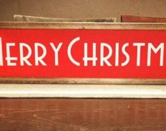 Merry Christmas-Farmhouse Style Sign